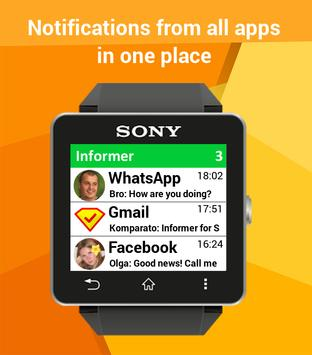 Notifications Sony SmartWatch poster