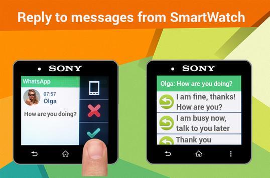 Notifications Sony SmartWatch apk screenshot