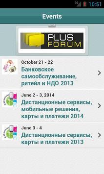 PLUS Forum poster