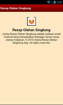 Aneka Resep Olahan Singkong apk screenshot