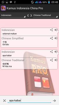Indonesian Chinese Dictionary apk screenshot