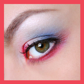 Eye makeup guide icon