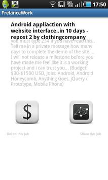 Freelance Work apk screenshot