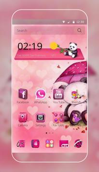 Pink Love Bear Theme poster