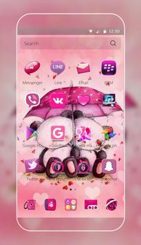 Pink Love Bear Theme apk screenshot