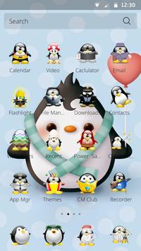 Penguin Theme for CM Launcher apk screenshot