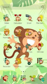 Jungle Monkey Theme apk screenshot