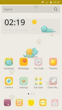 Lazy Cat Theme apk screenshot