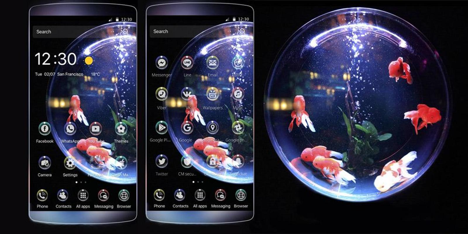 Phone Download Free Themes For Android Phones gold fish bubble theme apk download free lifestyle app for screenshot
