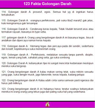 123 Fakta Golongan Darah apk screenshot