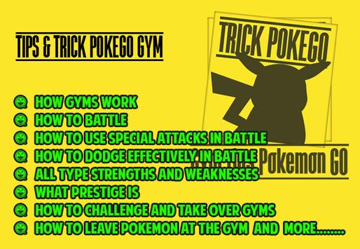 Gym Tips Pokemon GO apk screenshot