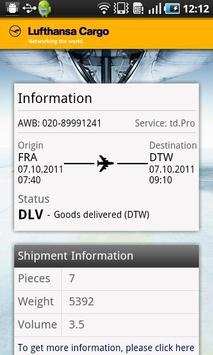 Lufthansa Cargo apk screenshot