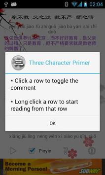 Three Character Primer apk screenshot