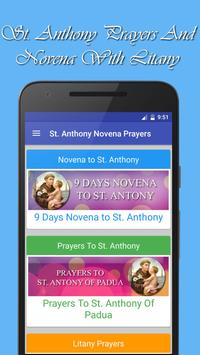 St Anthony Novena Prayers poster