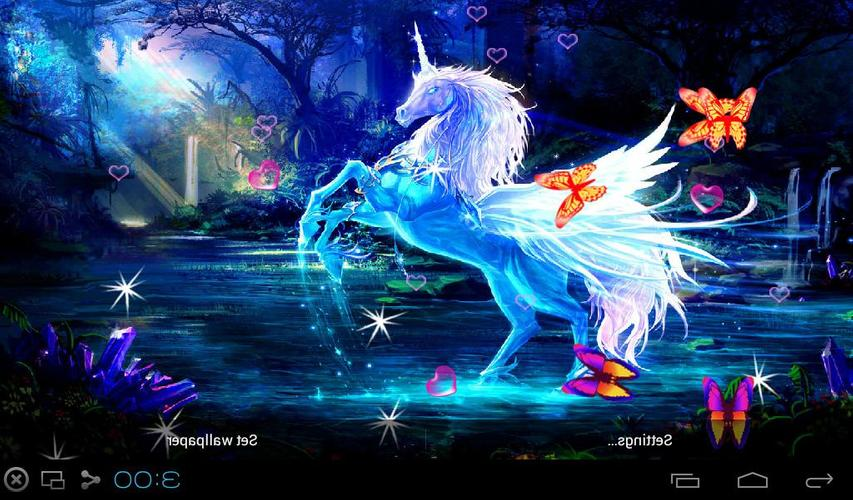 3D Unicorn Live Wallpapers APK Download Free Personalization APP For Androi