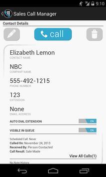 Sales Call Manager (Trial) apk screenshot