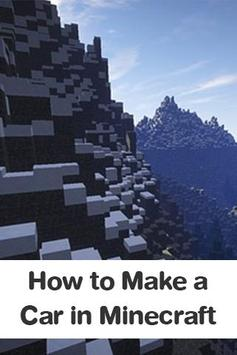 How to Make a Car in Minecraft poster