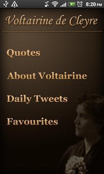 Voltairine Quotes poster