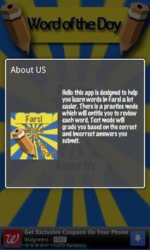 Farsi Word Of The Day (FREE) apk screenshot