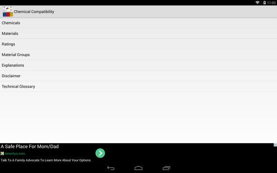 Chemical Compatibility apk screenshot