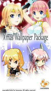 Anime Girls Xmas Cards 2012 poster