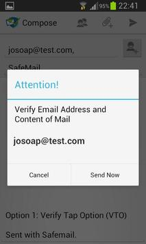 SafeMail apk screenshot