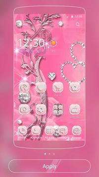 Pink Rose Diamond Theme poster