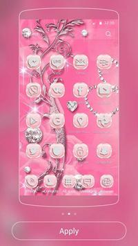 Pink Rose Diamond Theme apk screenshot