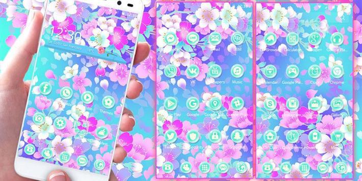 Blossom sakura Theme apk screenshot