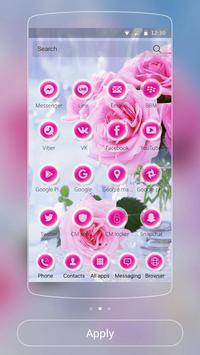 Pink Rose Love Theme apk screenshot
