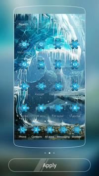 Theme Ice Frozen Snow Castle apk screenshot