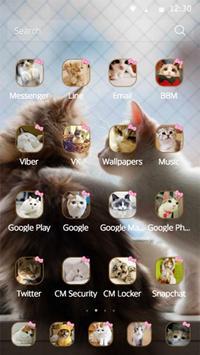 Lovely Cat couple theme apk screenshot