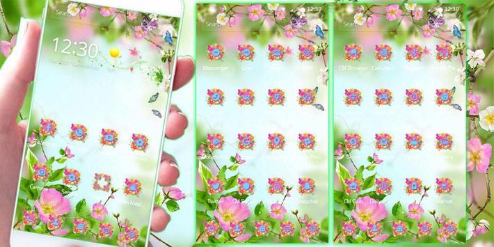 Blossom flower Theme apk screenshot