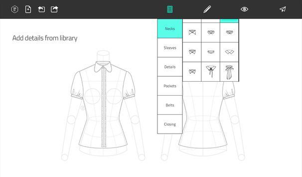 Fashion Design Flat Sketch apk screenshot