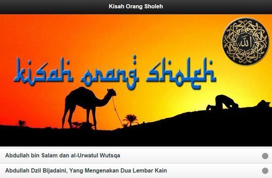Kisah Orang Sholeh apk screenshot