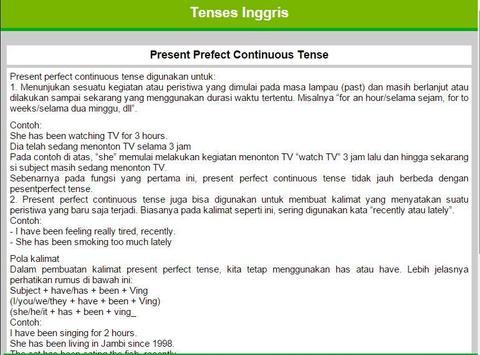 Belajar Tenses apk screenshot