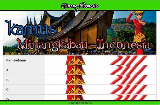 Kamus Minangkabau Indonesia apk screenshot