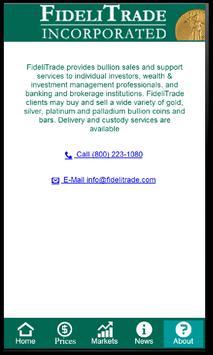 FideliTrade Gold Silver Prices apk screenshot