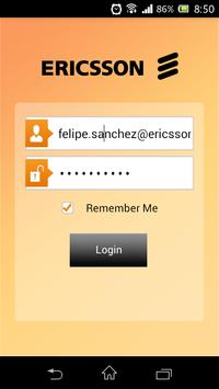 Ericsson HR Mobile Application poster