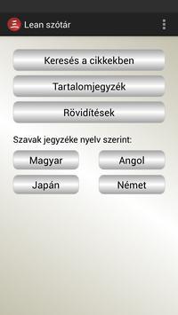 Lean szótár poster