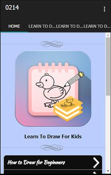 Learn To Draw For Kids poster