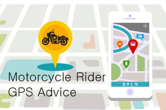 Motorcycle Rider GPS Advice poster
