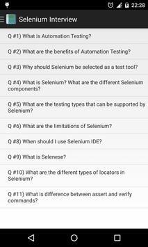 Selenium Interview poster