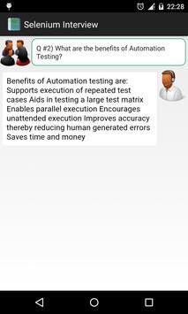 Selenium Interview apk screenshot