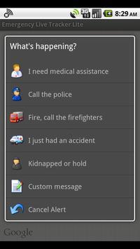 Emergency Live Tracker Lite poster