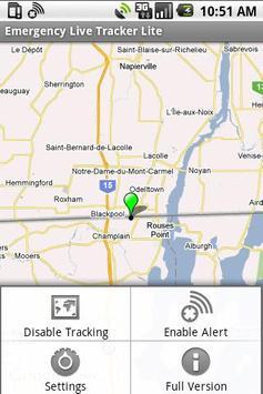 Emergency Live Tracker Lite apk screenshot