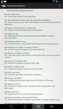Peribahasa Indonesia poster