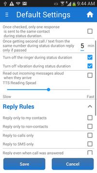 SMS Auto Reply Text Message apk screenshot