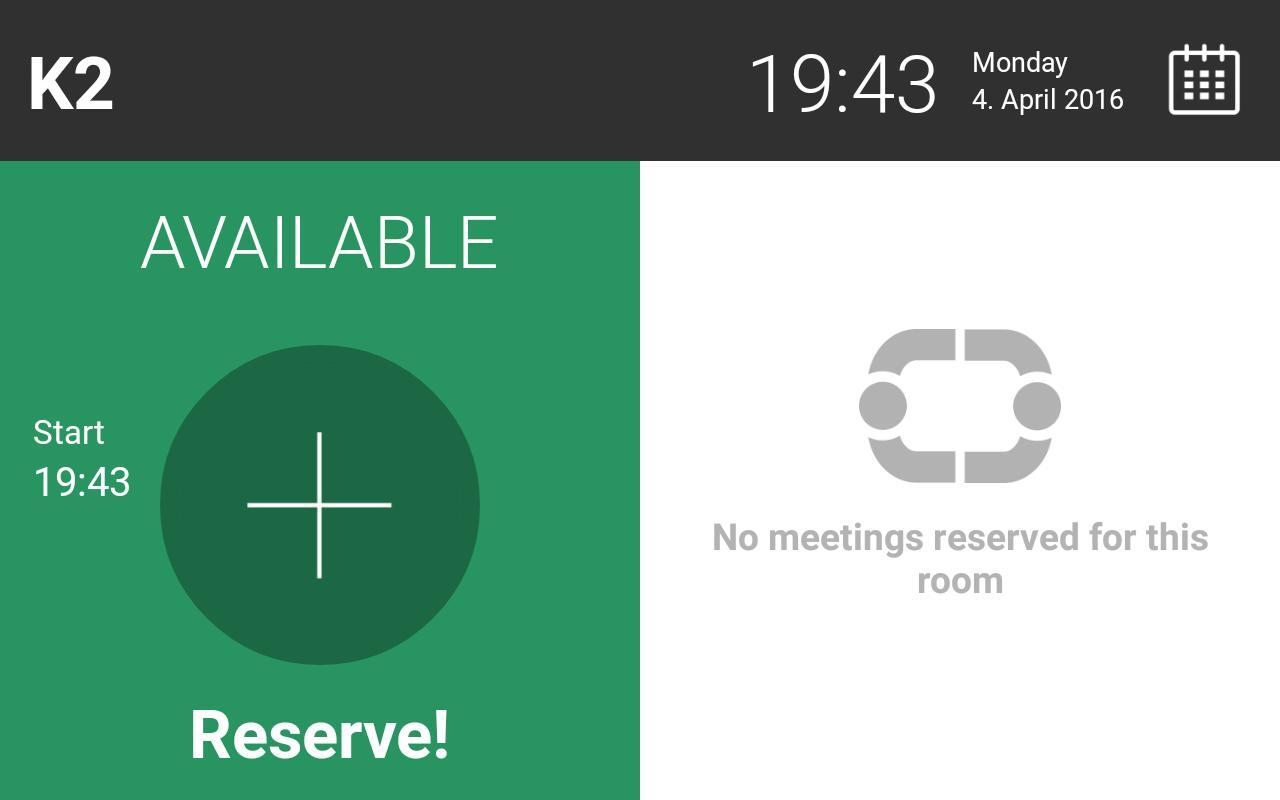 Android Meeting Room Display App