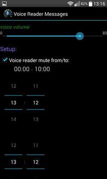 VOICE READER SMS and MESSAGE apk screenshot